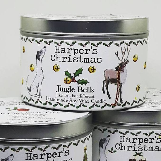 vegan geurkaars Jingle Bells Harper's Candles