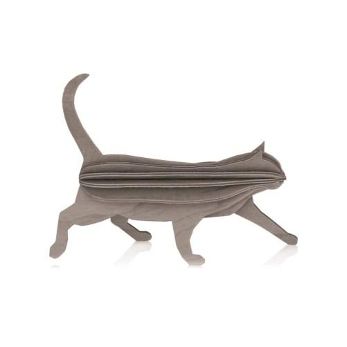 lovi wooden postcard cat 12cm