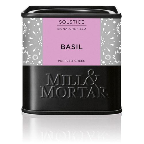 basilicum Mill & Mortart gedroogde paarse en groene basilicum