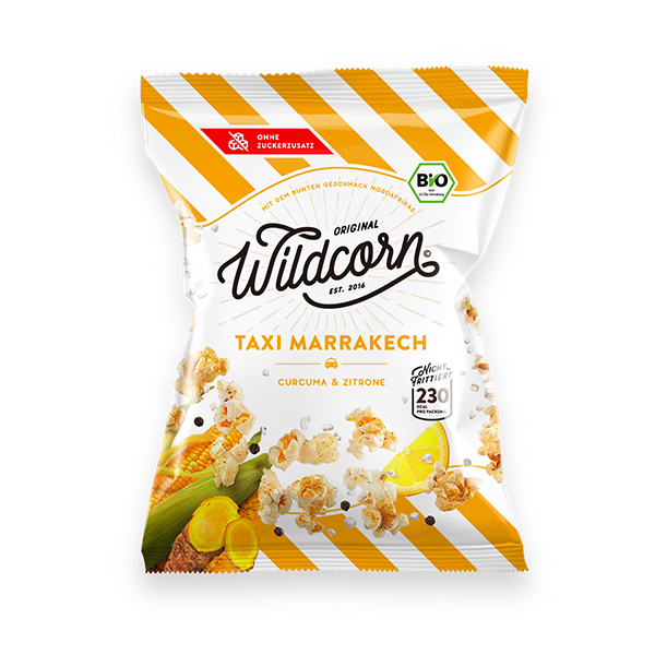Wildcorn Taxi Marrakech hartige popcorn