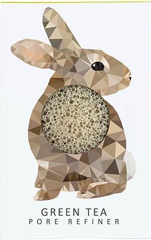 Woodland Rabbit Konjac spons met groene thee extract bij tAK