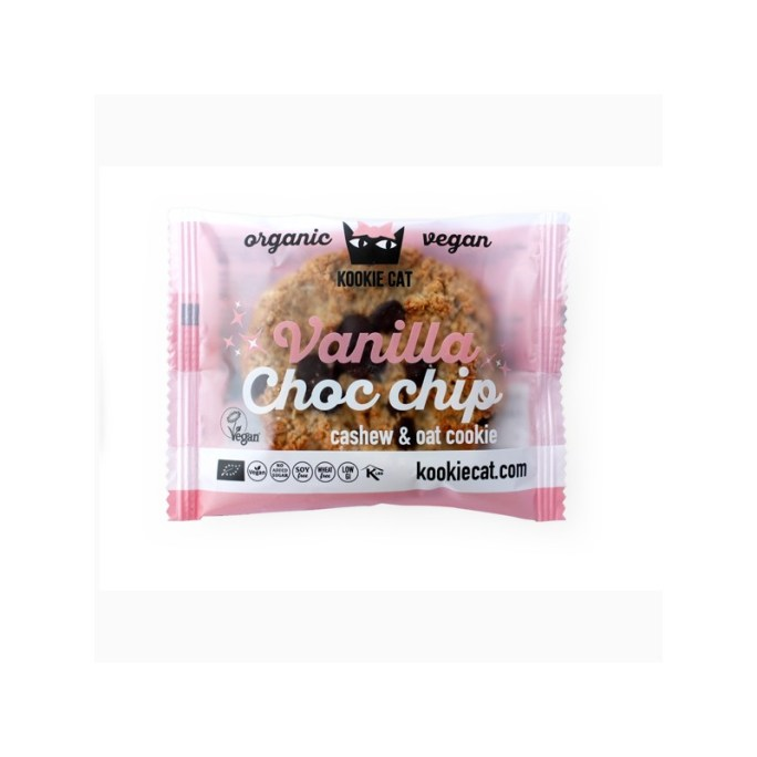 kookie cat vanilla choc chip vegan cookies