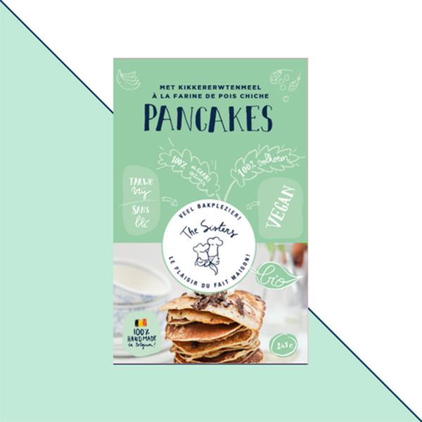 pannenkoekenmix Pancakes met kikkererwtenmeel The Sisters Vegan pannenkoeken