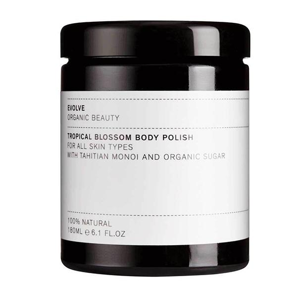 tropical blossom body polish Evolve Beauty 150ml