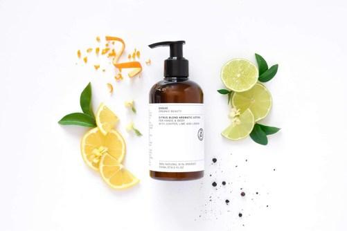vegan body lotion Evolve Beauty Citrus Blend Aromatic Lotion