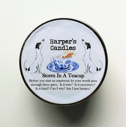 Storm in a Teacup Harper's Candles vegan geurkaars