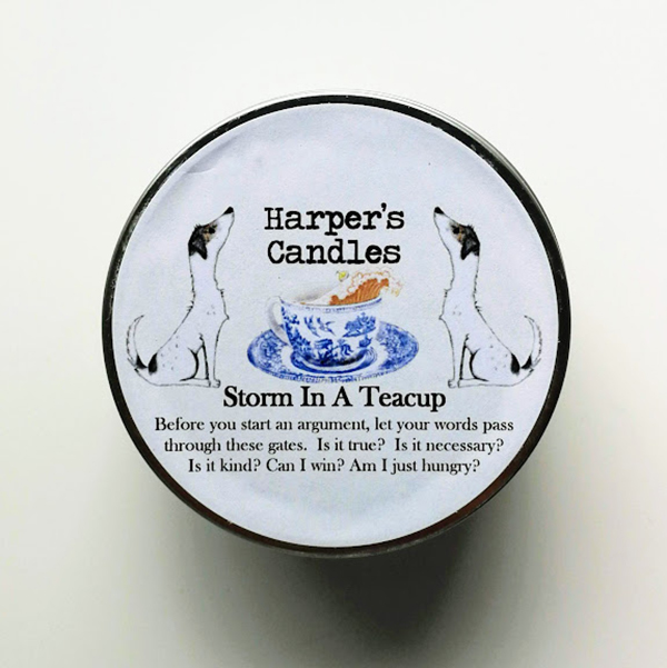 Storm in a Teacup Harper's Candles vegan geurkaars
