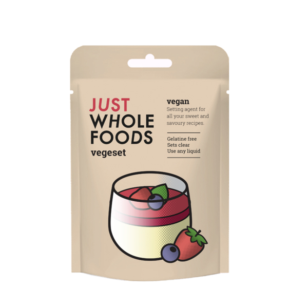JustWholefoods Vegeset agar agar plantaardig geleermiddel