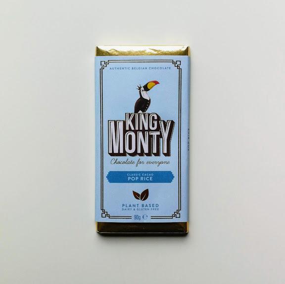 King Monty Pop Rice bar vegan chocolade 90gr