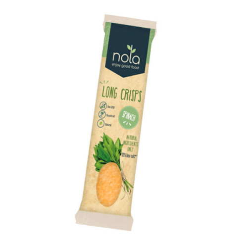 Nola Long Crisps Spinach vegan chips 75gr