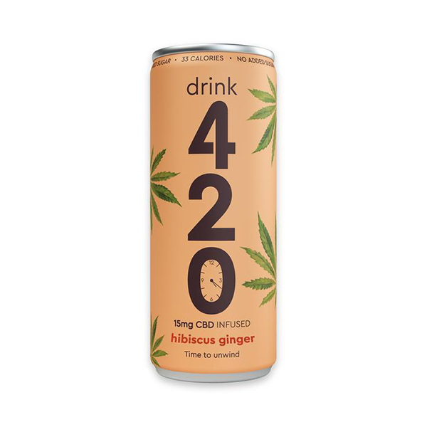 Drink 420 Hibiscus Ginger 250ml vegan