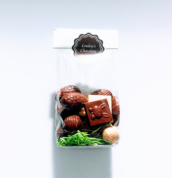Loulous Chocolate vegan paaseitjes