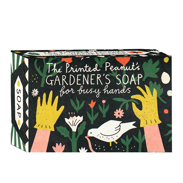scrubzeep na het tuinieren The Printed Peanut Gardener's Soap