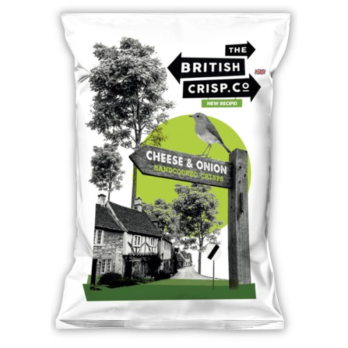 vegan kaas chips British Crisp Co Crisps Cheese & onion