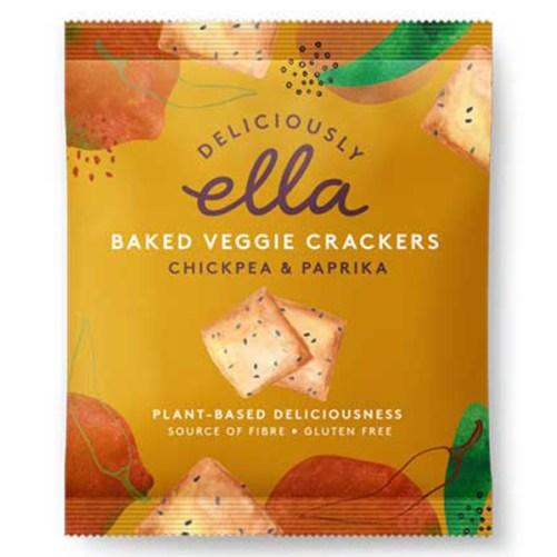 deliciously Ella Chickpea Crackers vegan crackers