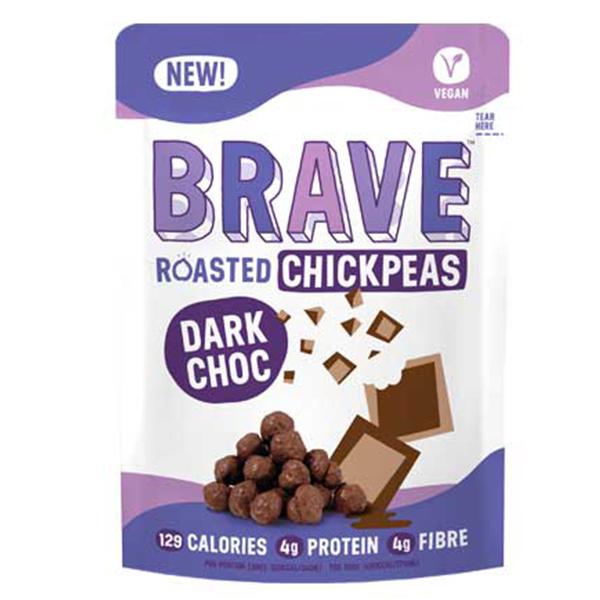 Brave Roasted Chickpeas Dark Choc vegan snack