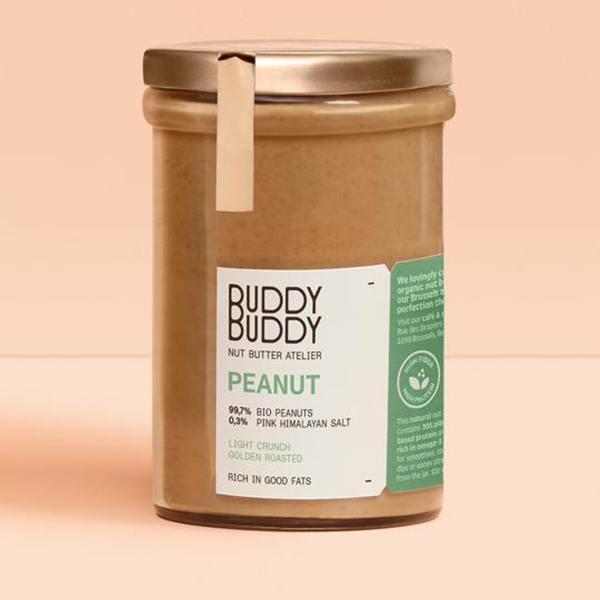 buddy buddy pindakaas vegan