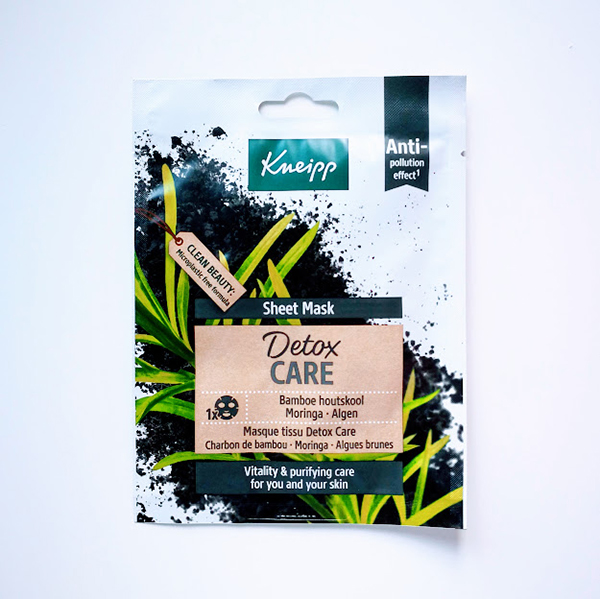 Kneipp Sheet Mask Detox Care sheet maker vegan