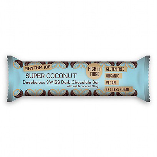 rhythm 108 super coconut vegan chocoladereep