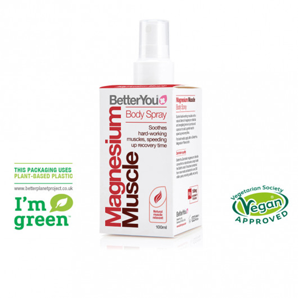 Betteryou Magnesium Muscle Body Spray vegan
