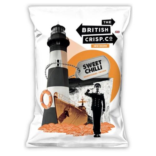 British Crisp Co Chilli - sweet chilli vegan chips 40gr