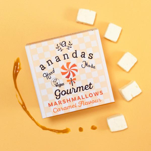 anandas caramel gourmet marshmallows 80gr vegan