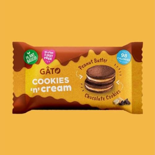 gâto peanut butter cookies'n' cream 42gr vegan glutenvrij