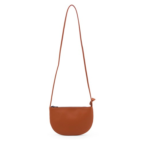 Farou Half Moon Bag Burnt Orange Monk & Anna vegan cross body