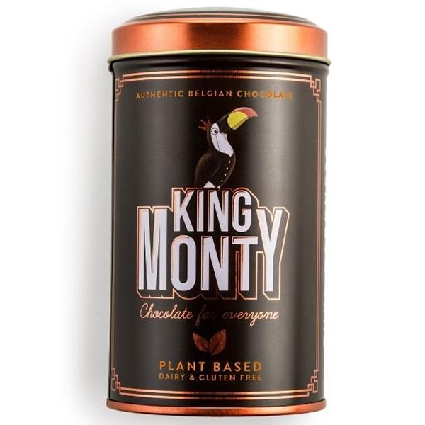 King Monty Pure Darkness vegan lactosevrije chocolade
