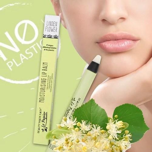 Le Papier Linden Flower vegan lip balm zero waste