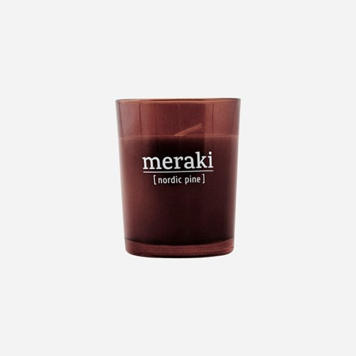 meraki nordic pine scented candle vegan geurkaars