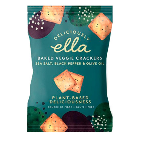 Deliciously Ella OLive Seeded Baked Veggie Crackers 100gr vegan
