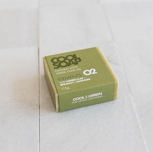 cool soap elements 02 vegan blok zeep met groene klei