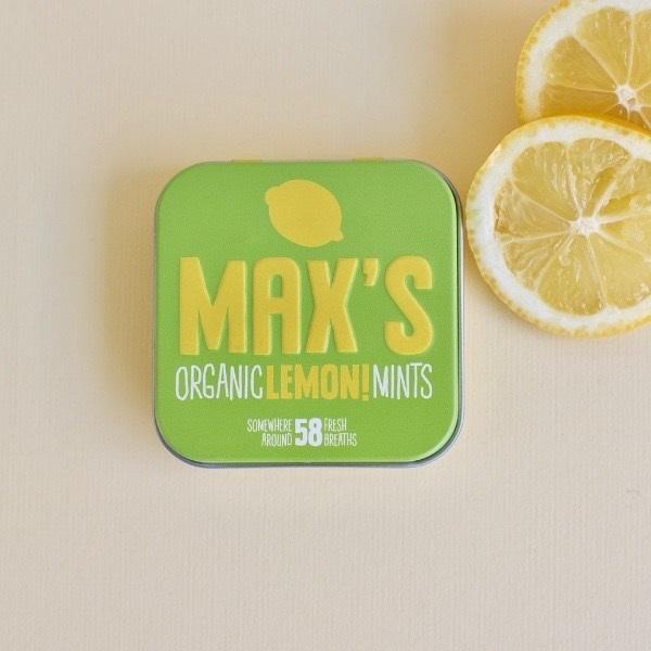 Max Lemon Mints vegan muntjes pastilles 35gr