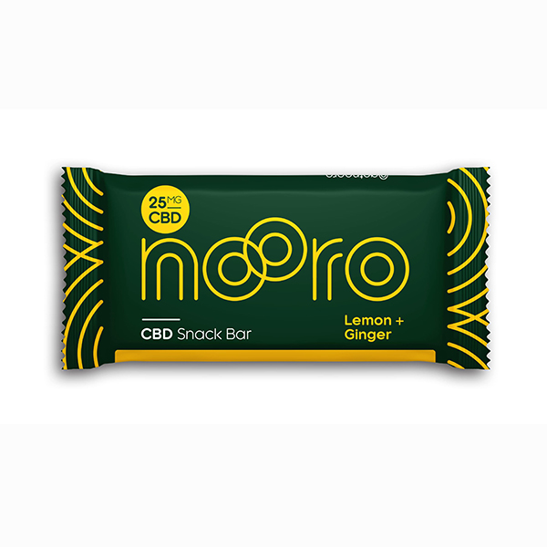 nooro lemon and ginger CBD oat bar vegan