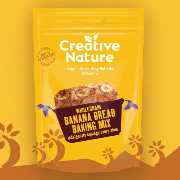 creative nature banana bread baking mix vegan glutenvrij