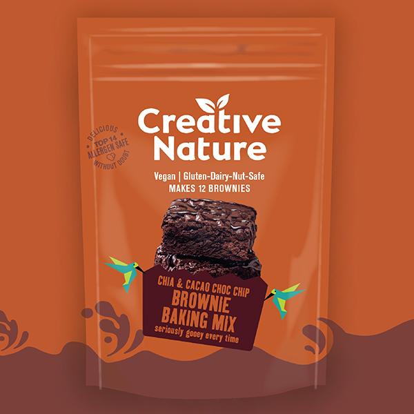 Creative Nature Brownie Chia & Cacao Choc Chip vegan glutenvrij