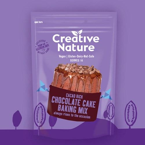 creative nature chocolate cake allergeenvrije bakmix