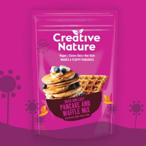 creative nature pancake waffle allergeenvrije bakmix