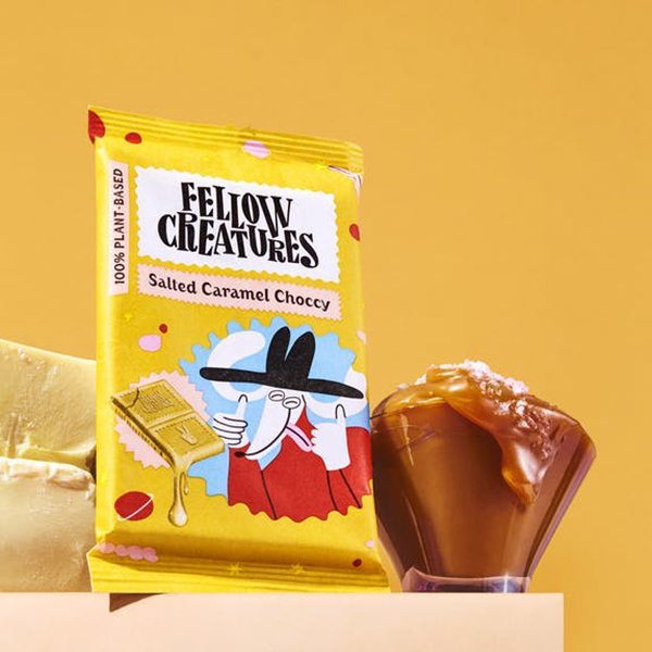 fellow creatures salted caramel chocolate vegan chocolade 70gr