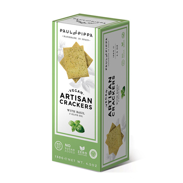 Paul Pippa Vegan crackers met basilicum 130gr