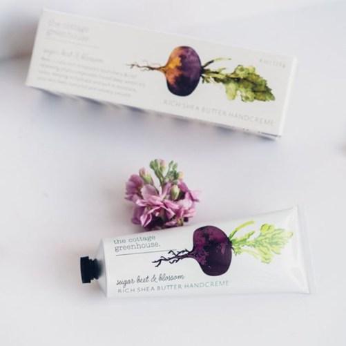 the cottage greenhouse sugar beet & blossom handcreme vegan