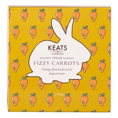 keats london fizzy carrots 150gr vegan halal, glutenvrij