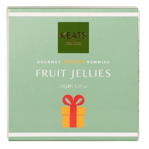 keats london fruit jellies vegan snoep fruitmix 150gr