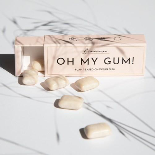 oh my gum just cinnamon gum vegan plasticvrije kauwgom