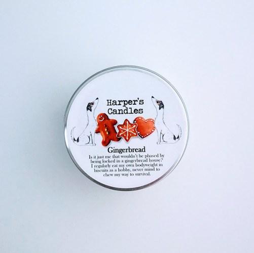 vegan geurkaars Gingerbread van Harper's Candles