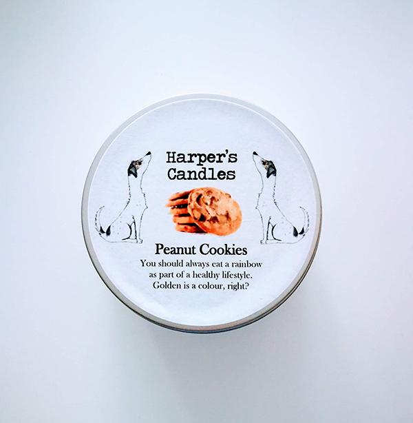harpers candles peanut cookies vegan geurkaars