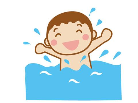 プールで遊ぶ子供