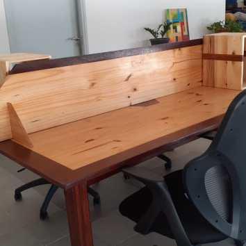 Bureau coworking Bees Work - TAKARI DESIGN - Guyane - La Fabrique du Dégrad