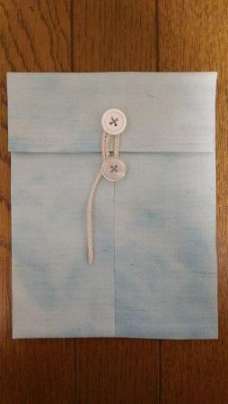 御朱印帳 ポーチの作り方 玉付き封筒風デザインの手作りレシピ♪